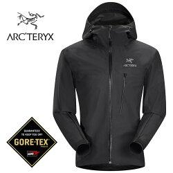 【ARCTERYX 始祖鳥 加拿大】ALPHA SL GORE-TEX 極輕量防水外套 防水夾克 風雨衣 男款 黑色 (L0623800)