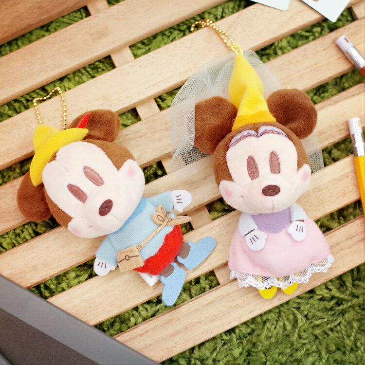 PGS7 日本迪士尼系列商品 - 日貨 迪士尼 二頭身 可愛 吊飾 米奇 米妮 娃娃 掛飾【SKD7764】