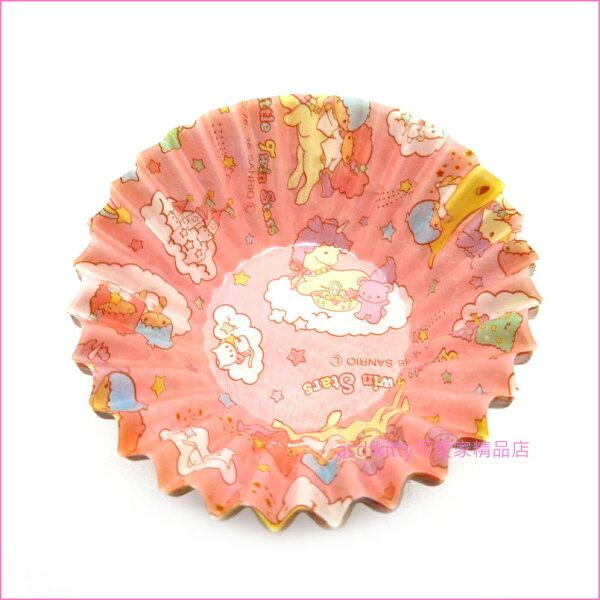asdfkitty可愛家☆雙子星便當菜紙隔盒-可當裝飾跟隔開菜味.菜汁-日本正版商品
