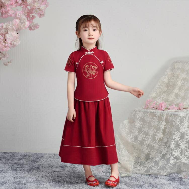 女童旗袍 女童中國風童裝古風漢服超仙兒童復古唐裝小女孩寶寶古裝