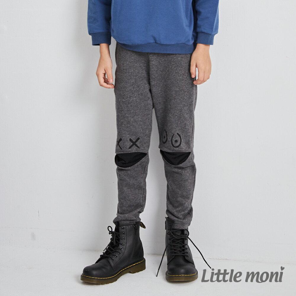 Little moni 怪獸造型休閒褲-鐵灰(好窩生活節) 1