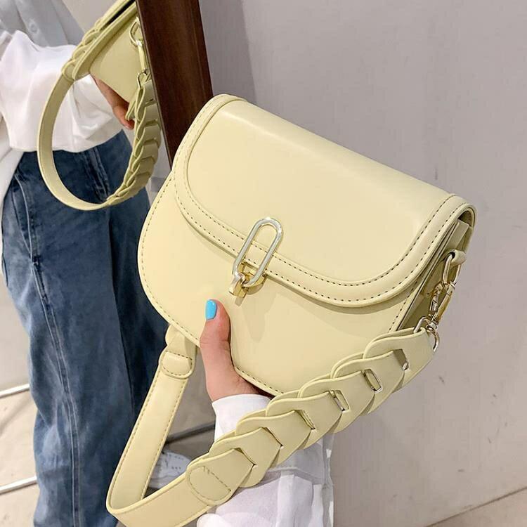 馬鞍包 今年流行包包2021新款時尚潮質感小眾單肩女包簡約百搭斜挎馬鞍包 【百淘百樂】