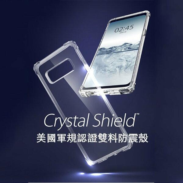 SpigenSGP三星Note8CrystalShell四角加強防撞透明保護殼台灣公司貨