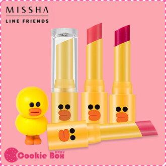 韓國 MISSHA LINE 莎莉 唇膏 4g 聯名 可愛 造型 口紅 咬唇 唇彩 韓妝 *餅乾盒子*