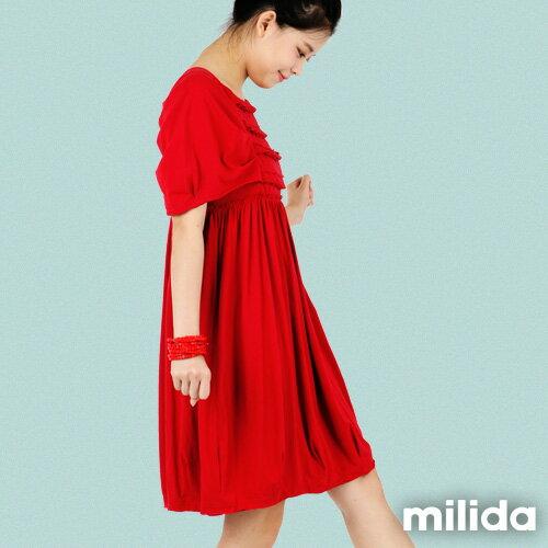 【Milida,全店七折免運】-春夏商品-甜美款-公主袖洋裝 4