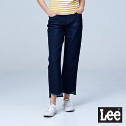 Lee  415高腰合身直筒牛仔褲/BO-中深藍