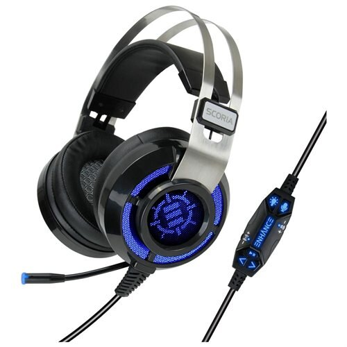 ENHANCE SCORIA Gaming Headset with USB 7.1 Virtual Surround Sound , Adjustable Bass Vibration 0