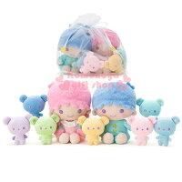 雙子星周邊商品推薦到〔小禮堂〕雙子星 造型絨毛玩偶娃娃組《7隻小熊.坐姿》彩虹熊生日慶系列
