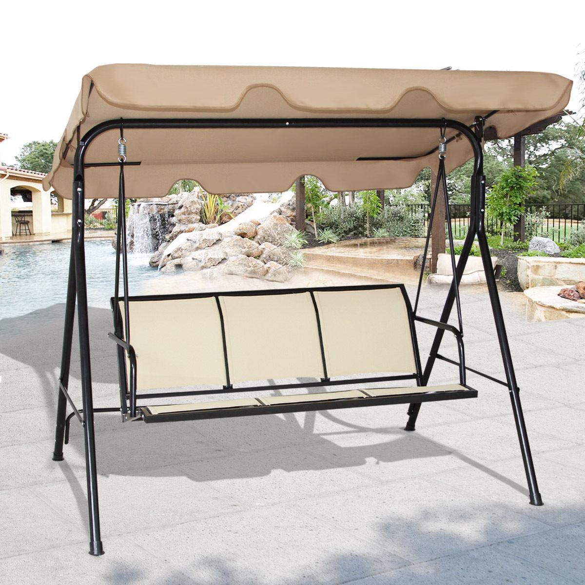 Costway | Rakuten: Costway 3 Person Outdoor Patio Swing Canopy ...
