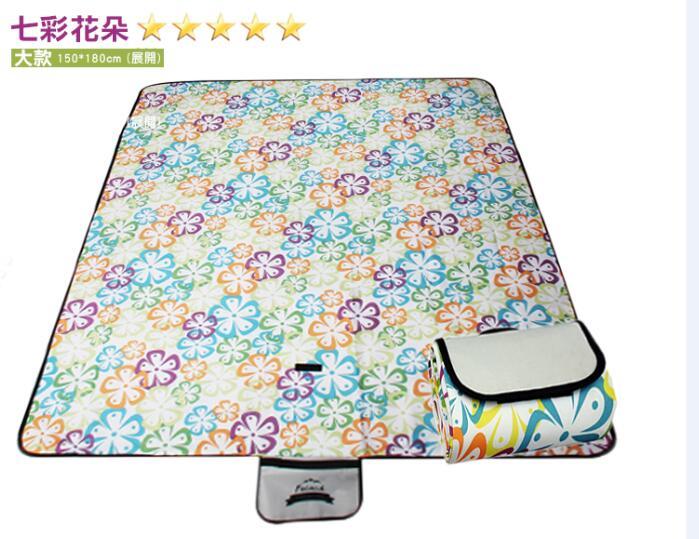 WallFree窩自在 防水耐磨戶外郊遊野餐墊  遊戲毯 大尺寸150~180CM ~七彩