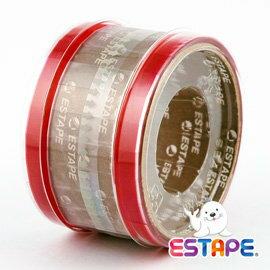ESTAPE 易撕貼 抽取式OPP膠帶 (紅色)
