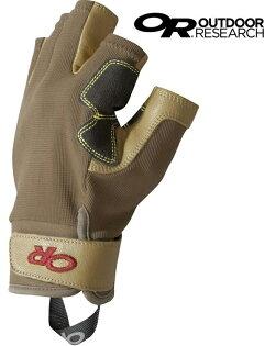 OutdoorResearch半指手套垂降手套確保手套工程皮革手套FossilRock264363棕色1200
