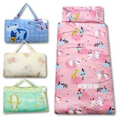 (免運)冬夏兩用精梳棉鋪棉兒童睡袋【台灣製造MIT】100%棉 純棉 4.5X5尺加大型 多款可愛動物睡袋