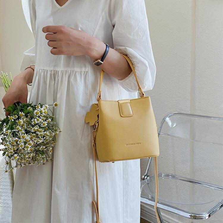 上新小包包女包2020新款潮百搭ins側背斜背包網紅時尚手提水桶包yh
