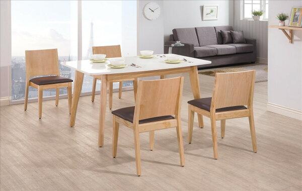 【石川家居】YE-A452-03奧斯卡雙色5尺餐桌(不含餐椅及其他商品)台北到高雄搭配車趟免運