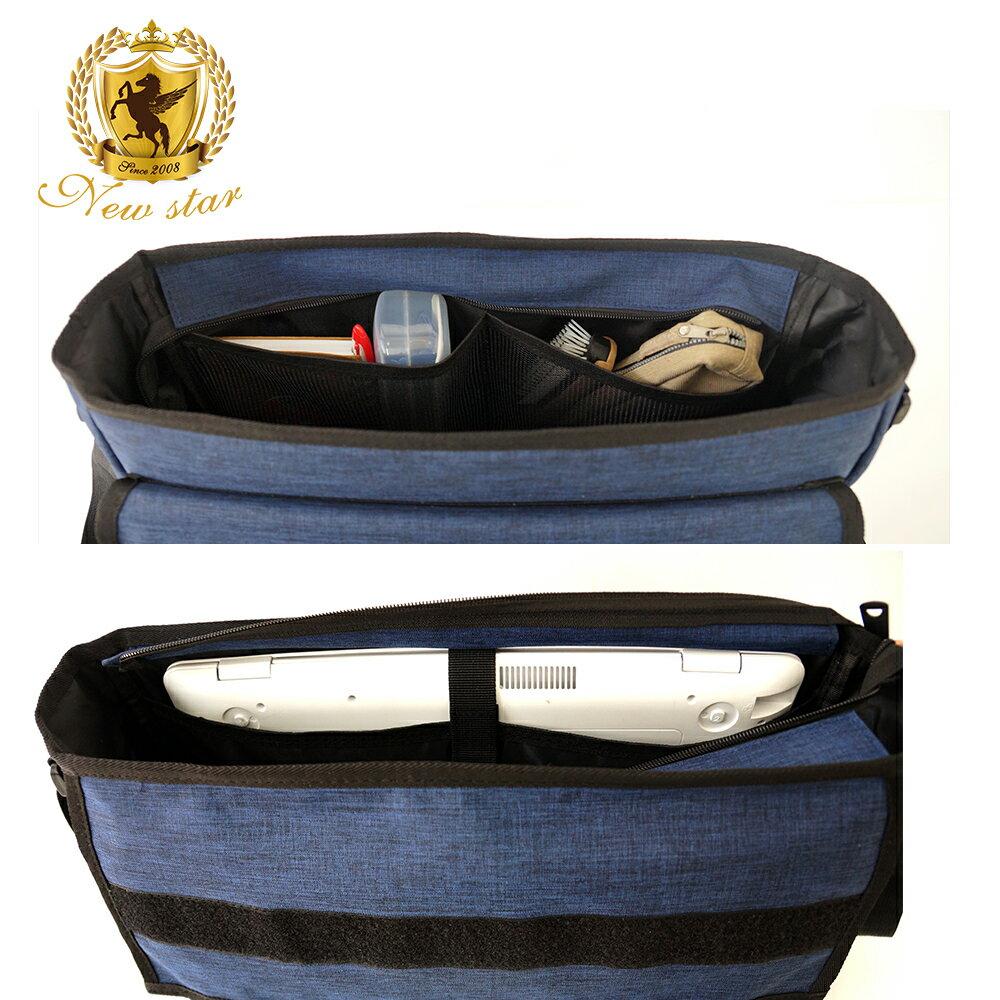 極簡防水大容量A4筆電機能側背包斜背郵差包包 NEW STAR BL145 7