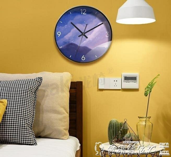時鐘時尚掛鐘客廳家用個性創意北歐現代簡約鐘表臥室靜音藝術石英時鐘