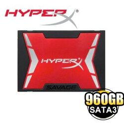 【新風尚潮流】金士頓 960GB HyperX Savage SSD 2.5吋 固態硬碟 SHSS37A/960G