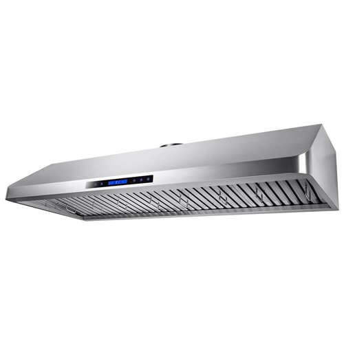 "AKDY 54"" Stainless Steel Under Cabinet Mount Range Hood Touch Screen Display Light Baffle Filter 1"