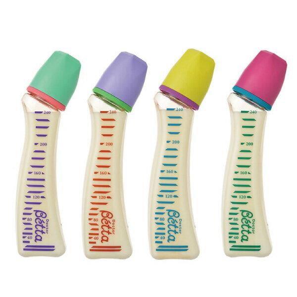 日本 Dr. Betta 防脹氣奶瓶(PPSU) Jewel S1-240ml(4色可選)【總代理公司貨】好窩生活節 - 限時優惠好康折扣