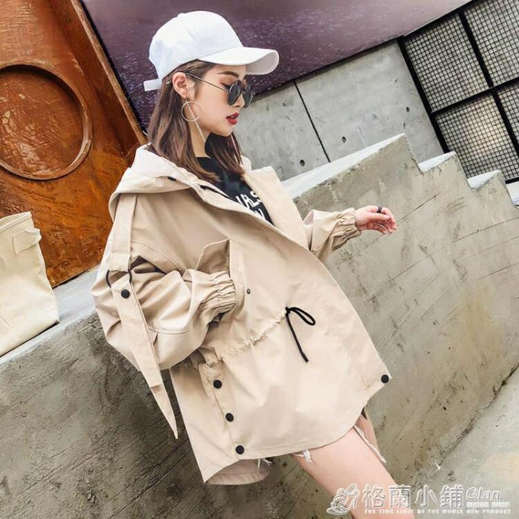 風衣外套 休閒風衣女中長款外套春秋新款韓版矮小個子bf工裝學生寬鬆潮