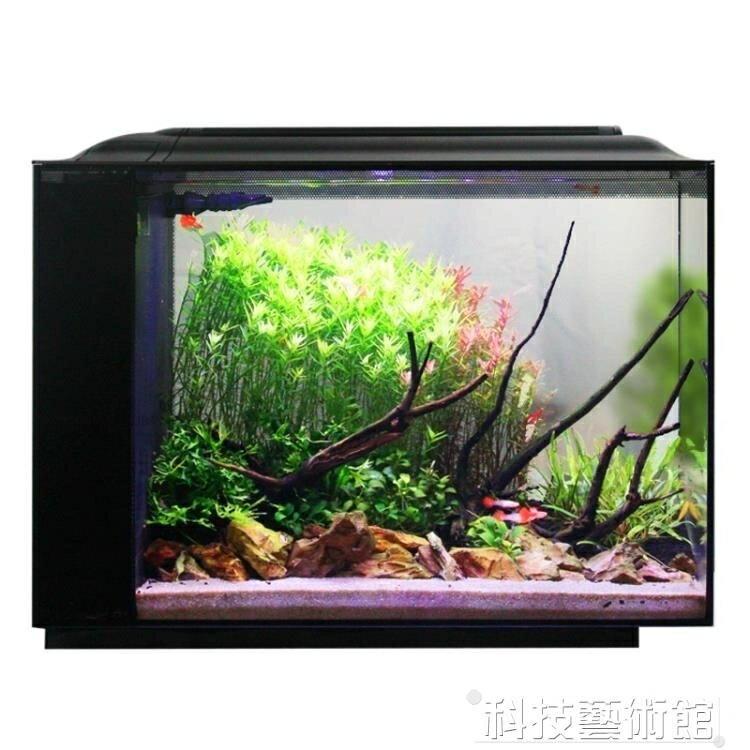 魚缸客廳超白玻璃桌面小型水族箱生態魚缸  DF 交換禮物