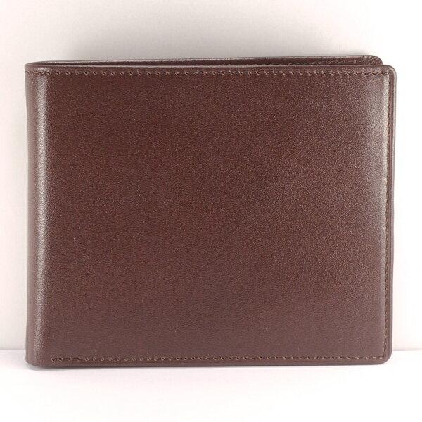 徽耀國際 Mark Honor:簡潔男用挺立皮夾褐色短夾-可加購客製化烙印