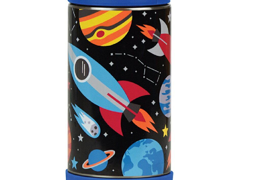 Wild & Wolf  Petit Collage 不鏽鋼保溫壺 保溫瓶 兒童保溫杯 350ml 太空之旅 1