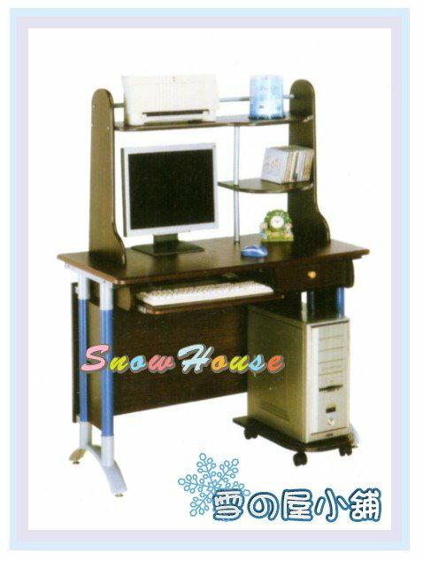 ╭~雪之屋居家 館~╯AA119~14 A2020胡桃上下電腦桌 含主機架  有組立