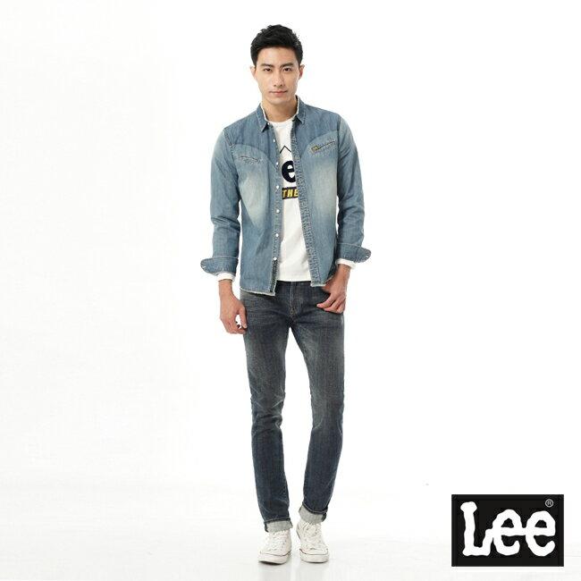 Lee 牛仔長袖襯衫 101+ 男款 淺藍 3