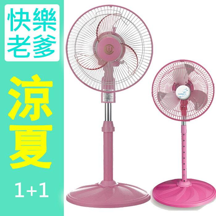 ★涼夏超值組★中央興10吋超靜音立扇UC-S10A+10吋鋁葉立扇 UC-1068