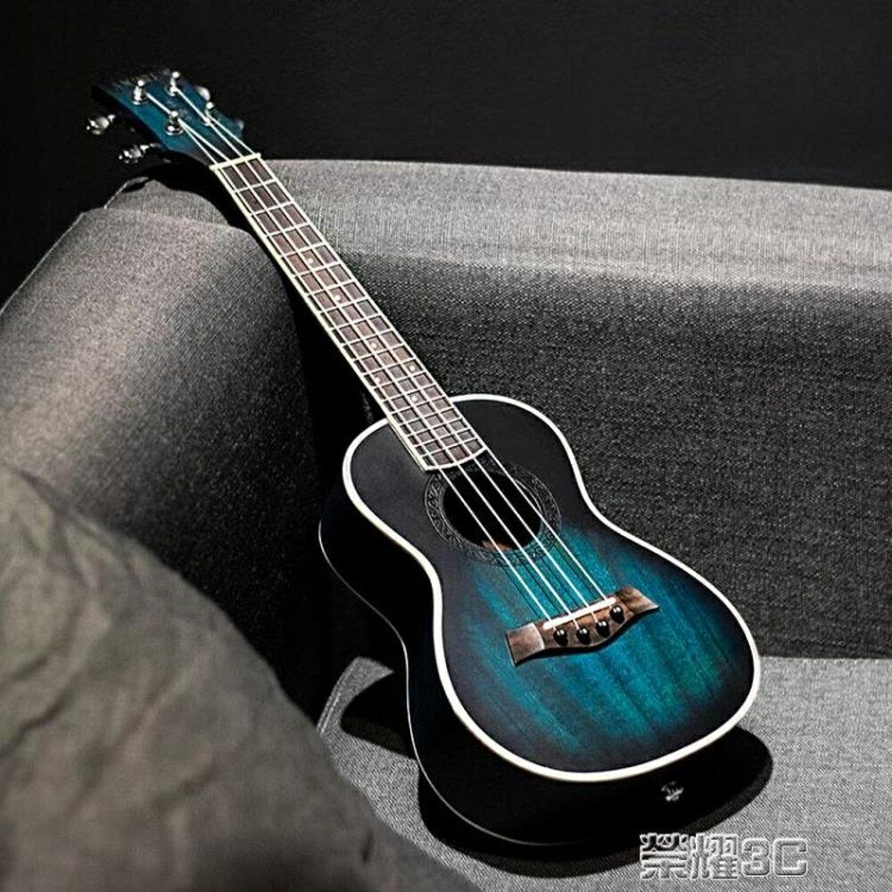 尤克麗麗 安德魯桃花心23寸藍色ukulele尤克里里小吉他學生初學烏克麗麗 JD  榮耀3c 0