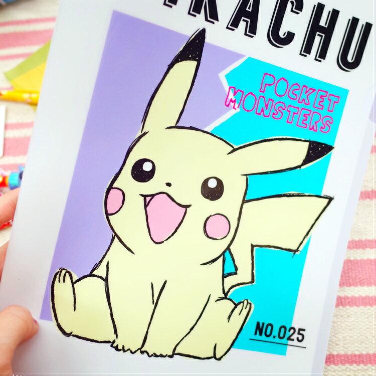 PGS7 日本卡通系列商品 - 日本 皮卡丘 Pikachu 資料夾 L夾 神奇寶貝 寶可夢 文件夾【SHJ7169】