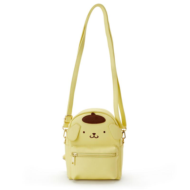 【真愛日本】4901610204269 迷你造型兩用包-PN臉ACO 三麗鷗 布丁狗 後背包 斜背包 兩用包