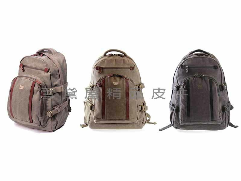 ^~雪黛屋^~troop英國品牌 純 帆布大背包可放電腦A4資夾100^%全棉帆布 義大利