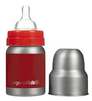【淘氣寶寶】加拿大 organicKidz 不鏽鋼保溫奶瓶Organickidz /【寬口徑】4oz 120ml