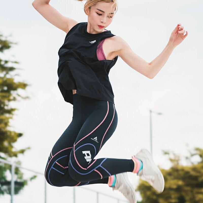 【台灣製-強效專業款】AREX SPORT 女款萊卡經典強力包覆壓縮褲-二代  壓力褲 內搭褲 束褲 緊身褲 XS-XL 0