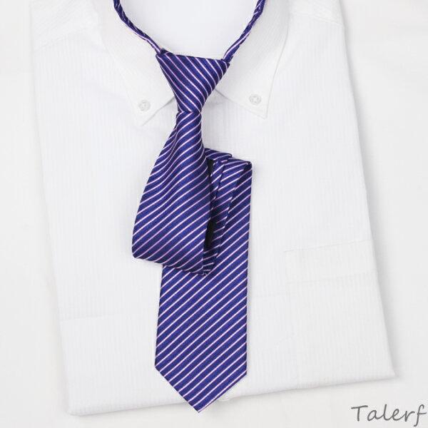 泰樂福購物網:【TALERF】泰樂福超窄版緹花拉鍊領帶(貴族紫)-現貨