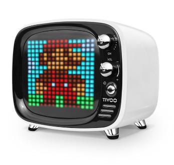 TIVOO藍芽喇叭復古小電視情人節首選智慧app時鐘遊戲留言版表達愛意自訂動畫藍芽音箱藍芽MP3【迪特軍】