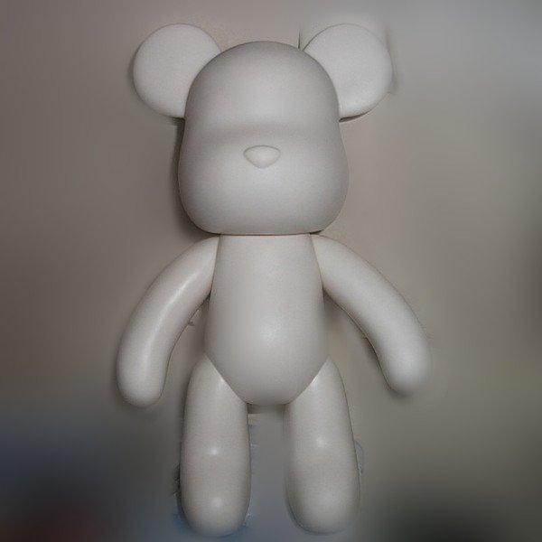 =優生活=暴力熊 10寸 白色熊公仔 塗鴉DIY momo熊 24CM 公仔 上色白胚 白模具 加厚版