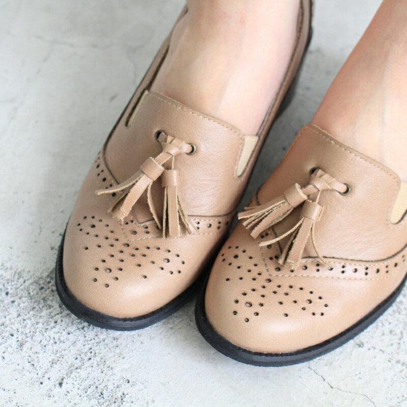 【P2-17102L】真皮雕花粗跟牛津鞋_Shoes Party 4