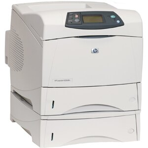 HP LaserJet 4350DTN Laser Printer - Monochrome - 1200 x 1200 dpi Print - Plain Paper Print - Desktop - 55 ppm Mono Print - Letter, Legal, Executive, Statement, Envelope No. 10, Monarch Envelope, Custom Size - 1100 sheets Standard Input Capacity - 250000 D 2