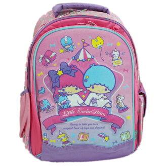 【真愛日本】15070400009 後背書包S-玩具晶亮粉 三麗鷗家族 Kikilala 雙子星 後背包 書包 正品