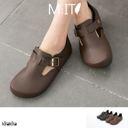 MIT SALE 舒適 釦式大頭包鞋涼鞋 偏大~011500932~~ ~  好康折扣