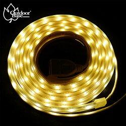 【露營趣】Outdoorbase 23236 帳篷LED燈條(黃光) 3528高光燈珠 露營燈 燈飾 氣氛燈 串燈