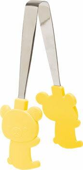 X射線【C647762】懶熊食物夾(黃),食物夾/料理夾/防燙夾/飯匙餐夾/出菜夾/調理用具/夾子/拉拉熊