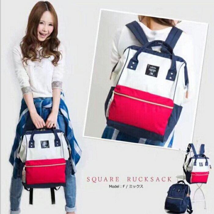 糖衣子輕鬆購【DZ0325】日本樂天ANELLO旅行情侶帆布雙肩包背包書包 後肩包 後背包 情侶包 媽媽包