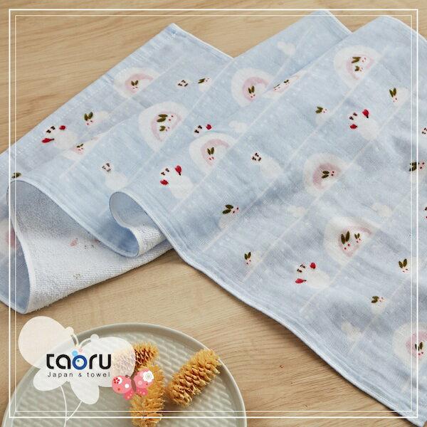 日本毛巾:和的風物詩_小兔子與雪人34*90cm(長毛巾冬雪--taoru日本毛巾)
