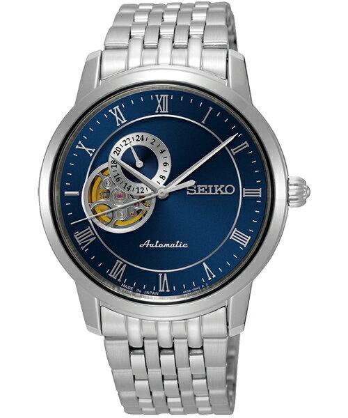 Seiko Presage :4R39-00M0B(SSA269J1)經典羅馬透視機械腕錶/藍面39mm