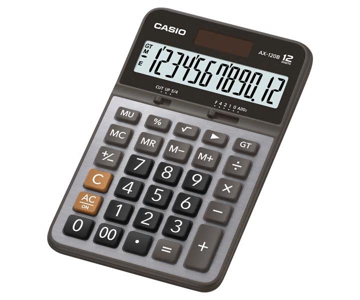 【文具通】CASIO 卡西歐 AX-120B 12位 計算機 約25x110.5x175.5mm L5140125